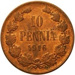 Moneta > 10penniä, 1895-1917 - Finlandia  - reverse