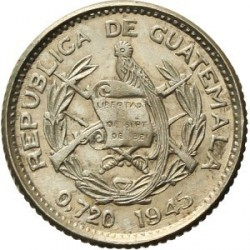 Munt > 5centavos, 1925-1949 - Guatemala  - obverse