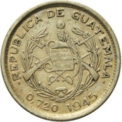 Moneta > 10sentavų, 1925-1949 - Gvatemala  - obverse