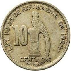 Νόμισμα > 10Σεντάβος, 1925-1949 - Γουατεμάλα  - reverse