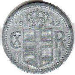 سکه > 10آورار, 1942 - ایسلند  - obverse