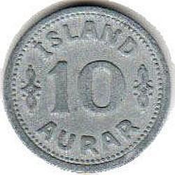 سکه > 10آورار, 1942 - ایسلند  - reverse