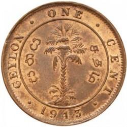 Coin > 1cent, 1942-1945 - Ceylon  - reverse