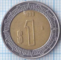 Moneta > 1peso, 1996-2018 - Messico  - reverse