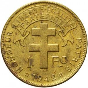 1 Franken 1942 Französisch äquatorialafrika Münzen Wert Ucoinnet