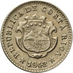 Монета > 5сентимів, 1942 - Коста-Ріка  (Мідно-нікелевий сплав /сірий колір/) - obverse
