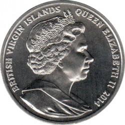 Moneda > 1dólar, 2014 - Islas Vírgenes Británicas  (100th Anniversary - World War I /Memorial/) - obverse