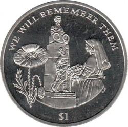 Moneda > 1dólar, 2014 - Islas Vírgenes Británicas  (100th Anniversary - World War I /Memorial/) - reverse