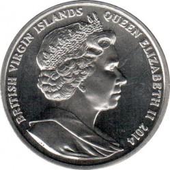 Moneda > 1dólar, 2014 - Islas Vírgenes Británicas  (100 aniversario . I Guerra Mundial/Lawrence de Arabia/) - obverse
