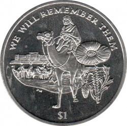 Moneda > 1dólar, 2014 - Islas Vírgenes Británicas  (100 aniversario . I Guerra Mundial/Lawrence de Arabia/) - reverse