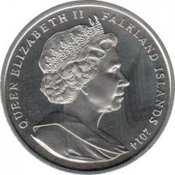 Moneda > 1corona, 2014 - Islas Malvinas  (100th Anniversary - World War I /Memorial/) - obverse