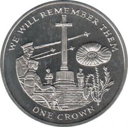 Moneda > 1corona, 2014 - Islas Malvinas  (100th Anniversary - World War I /Memorial/) - reverse