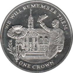 Moneda > 1corona, 2014 - Islas Malvinas  (100th Anniversary - World War I /Royal Chelsea Hospital/) - reverse