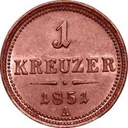 Moneda > 1kreuzer, 1851 - Àustria  - obverse
