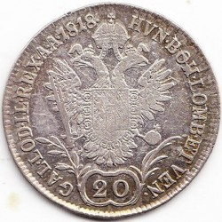 Монета > 20кройцера, 1817-1824 - Австрия  - obverse
