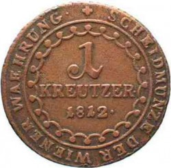 Moneda > 1kreuzer, 1812 - Àustria  - reverse