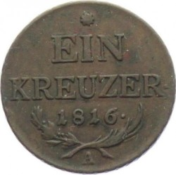 Монета > 1крейцер, 1816 - Австрія  - reverse