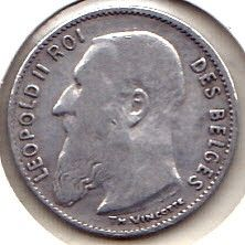 "Moneda > 50centimes, 1907-1909 - Bèlgica  (Llegenda en francès -  ""DES BELGES"") - obverse"