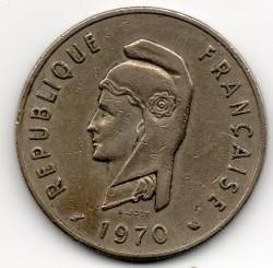 Монета > 100франков, 1970-1975 - Французские афар и исса  - obverse