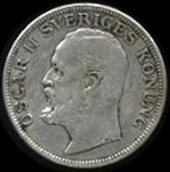 Münze > 1Krone, 1906-1907 - Schweden   - obverse