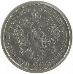 Monedă > 20сreițari, 1837-1848 - Austria  - reverse