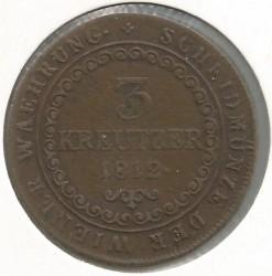 Monedă > 3сreițari, 1812 - Austria  - obverse
