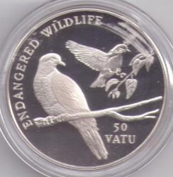 Moneta > 50vatu, 1992 - Vanuatu  (Fauna in via di estinzione) - obverse