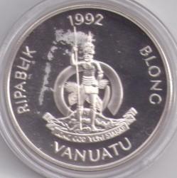 Moneta > 50vatu, 1992 - Vanuatu  (Fauna in via di estinzione) - reverse