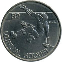Монета > 25ескудо, 1982 - Португалія  (25-й Чемпіонат світу з хокею на роликах) - obverse