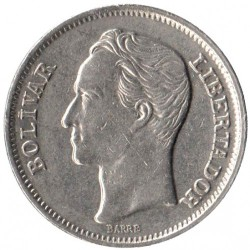 Moneta > 1bolivaras, 1977-1986 - Venesuela  - reverse