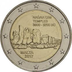 Монета > 2евро, 2017 - Мальта  (Доисторические места Мальты - Хаджар-Ким) - obverse