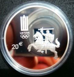 Coin > 20euro, 2016 - Lithuania  (XXXI summer Olympic Games, Rio de Janeiro 2016) - obverse