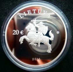 Moneta > 20euro, 2016 - Litwa  (25 rocznica - Członkostwo w ONZ) - obverse