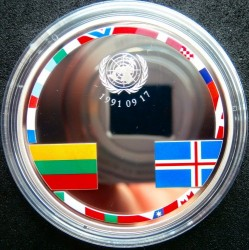 Moneta > 20euro, 2016 - Litwa  (25 rocznica - Członkostwo w ONZ) - reverse