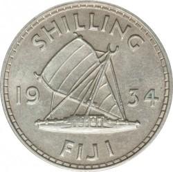 Moneda > 1chelín, 1934-1936 - Fiji  - reverse