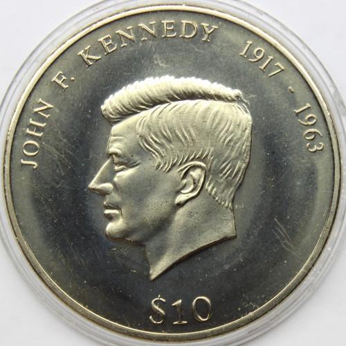 10 Dollar 2000 John F Kennedy Liberia Münzen Wert Ucoinnet