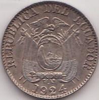 سکه > 5سنتاوو, 1924 - اکوادور  - obverse