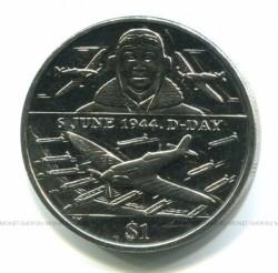 Moneta > 1dolar, 2004 - Brytyjskie Wyspy Dziewicze  (60 rocznica - D-Day - Lotnictwo) - obverse