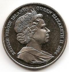 Moneta > 1dolar, 2004 - Brytyjskie Wyspy Dziewicze  (60 rocznica - D-Day - Lotnictwo) - reverse