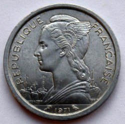 Монета > 1франк, 1969-1975 - Французские афар и исса  - reverse