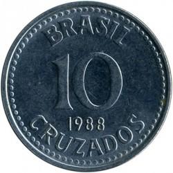 Coin > 10cruzados, 1987-1988 - Brazil  - reverse