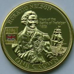 Moneta > 1corona, 2010 - Tristan da Cunha  (Great British Heroes - Horatio Nelson) - reverse