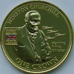 Moneta > 1korona, 2010 - Tristan da Cunha  (Bohaterowie Wielkiej Brytanii - Winston Churchill) - reverse