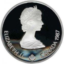 Монета > 20долларов, 1985 - Канада  (XV зимние Олимпийские Игры, Калгари 1988 - Горные лыжи) - obverse