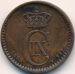 Moneda > 1öre, 1874-1904 - Dinamarca  - obverse