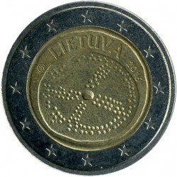 Coin > 2 euro, 2016 - Lithuania  (Baltic Culture) - reverse