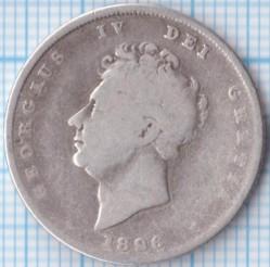 Moneda > 1chelín, 1825-1829 - Reino Unido  - obverse