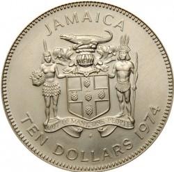 Moneta > 10dollari, 1974 - Giamaica  ( Sir Henry Morgan) - obverse
