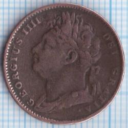 Münze > 1Farthing, 1821-1826 - Vereinigtes Königreich   - obverse