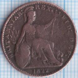 Münze > 1Farthing, 1821-1826 - Vereinigtes Königreich   - reverse